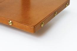 Jacques Adnet bookshelf detail