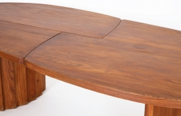"""Pierre Chapo's """"TGV"""" dining table, detailed view of table top"""