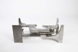 Gérard Mannoni's sculptural coffee table view of the base without glass top