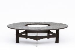 Pia Manu's circular coffee table full view