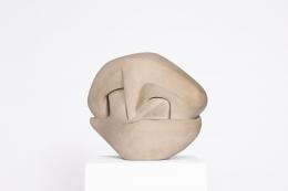 Marta Pan's ceramic sculpture, diagonal view
