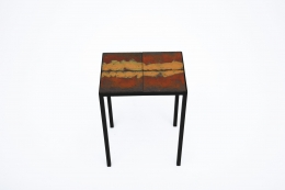 """Pierre Sabatier's """"Volvic Flamme"""" side table, full straight view from above"""