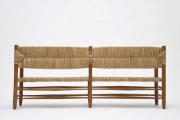 Charlotte Perriand's bench, full back view