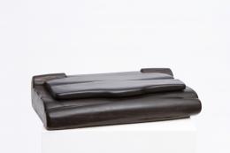 Alexandre Noll's black ebony box, closed lid diagonal view