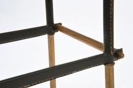 Jacques Adnet stool leg detail