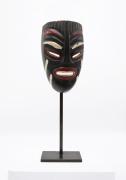 Jaque Sagan's ceramic mask, front view