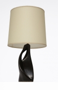 French 1950's ceramic table lamp full view