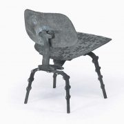 "Terence Main's ""My Eames is True"" sculptural side chair back diagonal view"