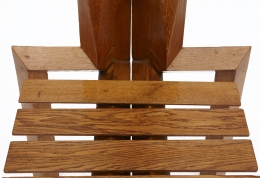 """Dominique Zimbacca's """"Sculpture"""" chair, detailed view of the seat"""
