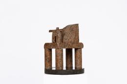 """Péter Pierre Székely's """"Cirque"""" sculpture, back diagonal view"""