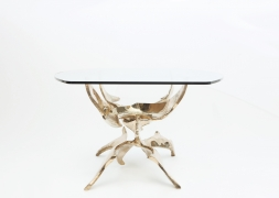 """Fred Brouard's """"Grande Ailée"""" dining table side view"""