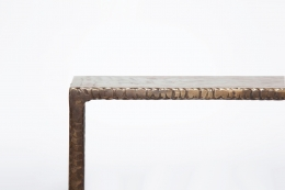 Costa Coulentianos' coffee table detailed view of edge