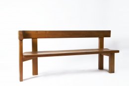 "Pierre Chapo ""S35D"" bench diagonal view"