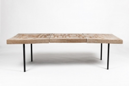 André Borderie ceramic coffee table straight view
