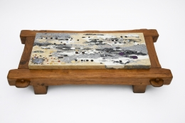 Paul Becker's coffee table top view