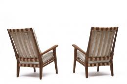 Jacques Adnet's armchair back views