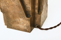 Pierre Sabatier's pair of table lamps, detailed view of back