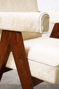"""Le Corbusier & Pierre Jeanneret's """"Committee"""" armchairs, detailed view of arm"""