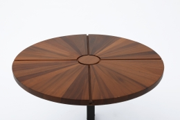 """Charlotte Perriand's """"Soleil"""" adjustable table, detailed view of top"""