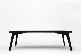 Pierre Jeanneret's dining table, full staright view