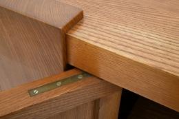 "Pierre Chapo's ""R16"" sideboard detail of door joinery"