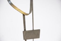 Alain Douillard's metal sculpture, detailed view