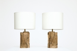 Pierre Sabatier's pair of table lamps, full front views
