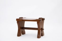 Odile Noll's side table/stool, diagonal view