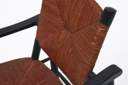 Charlotte Perriand's armchair, detailed view of rattan