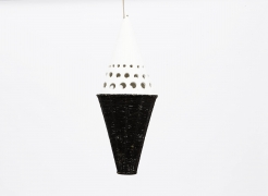 Roger Capron's ceramic ceiling lamp full view