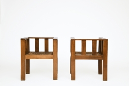 Attributed to Francis Jourdain's pair of chairs, full front views