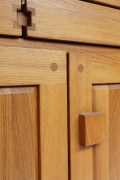"""Pierre Chapo's """"R07"""" sideboard, detailed view of door and knob"""