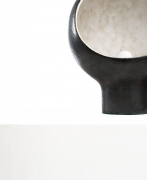 André Borderie ceramic table lamp detail of ceramic base