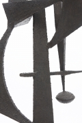 Michel Pinel's iron sculpture, detailed view of middle