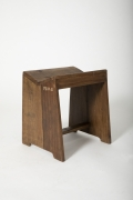 Pierre Jeanneret's stool, diagonal view
