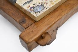 Paul Becker's coffee table detail of wood