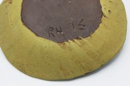 Roger Herman's ceramic plate view of underneath