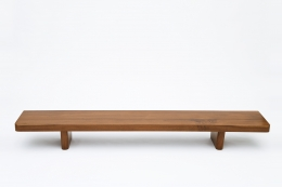 French 1950's bench straight view from above