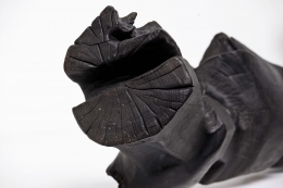 "Michel Anasse's ""Rythmique"" sculpture detail of end"