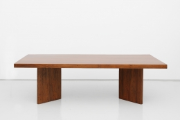 Pierre Jeanneret's Library table, full straight view from above