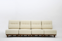 Guillerme & Chambron four seat sofa front