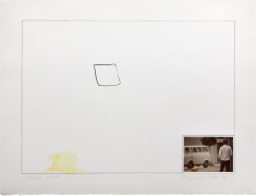 John Baldessari Raw Prints (Yellow), 1976 Lithograph, hand-tipped color photograph and embossing
