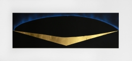 Lita Albuquerque  Solar Geometry, 1992  Lithograph with gold leaf appliqué