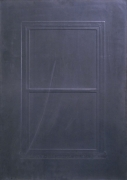 Eric Orr Lead Window, 1979 Embossed lead relief on wood backing, ed. 25