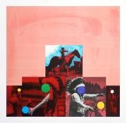 John Baldessari  Cliché: North American Indian (Red), 1995  Lithograph, silkscreen