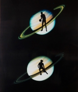 Eve Sonneman Basketball on Saturn, 1988 Polaroid Sonnegram, ed. 3