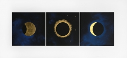 Lita Albuquerque  Solar Eclipse, 1992  Lithograph with gold leaf appliqué