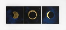 Lita Albuquerque  Solar Eclipse, 1992  Lithograph with gold leaf appliqué