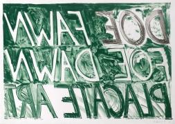 Bruce Nauman Doe Fawn, 1973 Lithograph, ed. 50