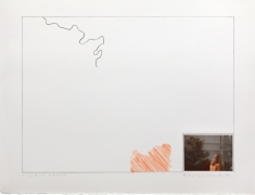 John Baldessari Raw Prints (Orange), 1976 Lithograph, hand-tipped color photograph and embossing